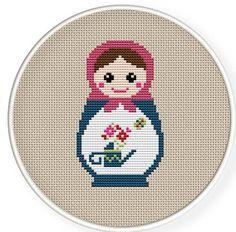 Instant Download,Free shipping,Cross stitch pattern, Cross-Stitch PDF,Mask Russian Doll ,Matryoshka Babushkas,zxxc0235