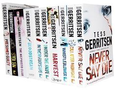 Every thriller Tess Gerritsen has ever written. The best book not in the Rizzoli & Isles series is Gravity!