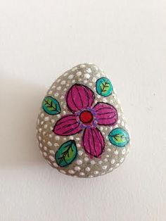 Painted stone no. 17 by HappyMamaArtworks on Etsy, $7.00