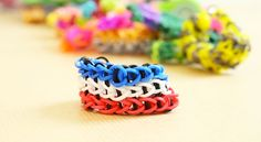 Le bracelet Triple en chaîne simple #crazyloom #rainbowloom