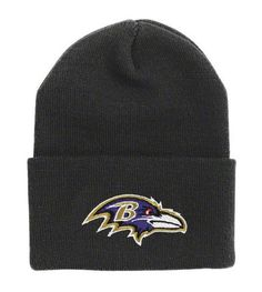 Baltimore Ravens Black Cuffed Knit Beanie Hat Cap NFL Authentic & New - OSFA Cuff by NFL Team Apparel. $23.99. Team Logo. Acrylic & Polyester. One Size Fits Most. Perfect For Women, Children Or any Adult With A Small Or Medium Size Head. This is a fantastic Baltimore Ravens Cuffed Beanie. It is NFL Authentic and NEW!