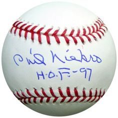 Phil Niekro Autographed Baseball HOF PSA/DNA . $49.00. This is an official MLB Baseball that has been signed by Phil Niekro. The autograph has been certified authentic by PSA/DNA and comes with their sticker and matching certificate.