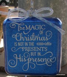 A personal favorite from my Etsy shop https://www.etsy.com/listing/478394444/the-magic-of-christmas-ornament