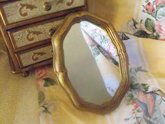 Vintage Florentine Miniature mirror  by fancyschmancyvintage