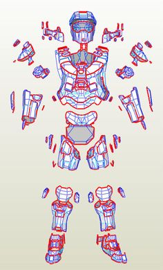 Halo Master Chief armor suit EVA Foam PDF, PDO pepakura templates to build your own Master Chief Cosplay, Master Chief Armor, Master Chief Costume, Halo Master Chief, Fallout 3 Power Armor, Casco Halo, Iron Man Hand, Eva Foam Armor, Halo Cosplay