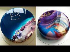 Most Satisfying Mirror Glaze Cake Decorating Compilation Glaze For Cake, Mirror Glaze Cake, Mirror Cakes, Mirror Glaze Wedding Cake, Galaxy Cake, Cake Hacks, Cake Decorating Videos, Decorating Ideas, Most Satisfying