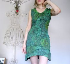 Womens Mod Futuristic Hippie Space Age Green Dress by Misskarret