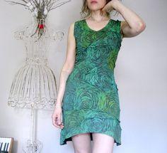 Womens Mod Futuristic Hippie Space Age Green Dress by Misskarret