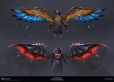 Fantasy Character Design, Character Inspiration, Character Art, Different Forms Of Art, Wings Design, Fantasy Characters, Game Art, Fantasy Art, Monsters