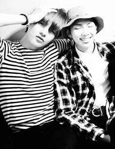 This looks adorable! Rapmon   Taehyung   VMon   BTS