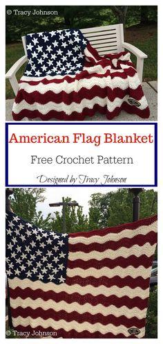 ddb1efc8b91d American Flag Blanket Free Crochet Pattern -  American  Blanket  Crochet   flag