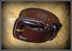 Recycled Belt Bracelet with Buckle by lachelafemme on Etsy, $12.00