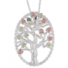 Black Hills Gold Family Tree Birthstone Silver Necklace and Brooch - MyBlackHillsGold.com