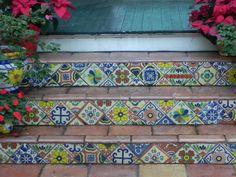 Colorful Tile Risers, Key West, Florida