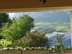 Drakensburg mountains from the lounge - Cathedral Peak hotel