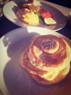 """""""みなさんの夜ご飯教えてくださいな~♡ 写メはいつかのbillsのパンケーキ fromはるるん #sunmyu #さんみゅ"""""""