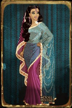New Character ~ by Saundra_Banks ~ created using the Sari doll maker   DollDivine.com