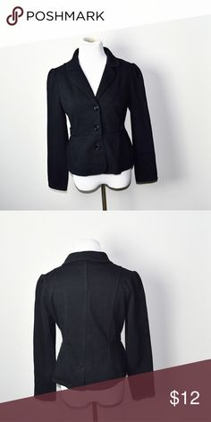 Adorable Black Sleek Blazer In excellent condition! Very comfortable, lightweight, and flattering! Buy 3 items and get 1 free plus 15% off your purchase total! Jackets & Coats Blazers