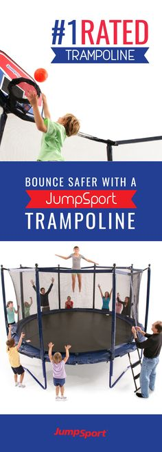 Check out http://www.jumpsport.com/JumpSport-Elite-PowerBounce-Trampoline to see the world's #1 rated safest trampoline! JumpSport Trampolines are the leading brand for safety, quality, and fail safe guarantee. An outdoor activity for the whole family that's fun, safe, and will keep the family fit for years to come!