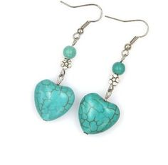 Turquoise Heart Earrings