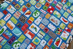 I spy quilt, so fun!