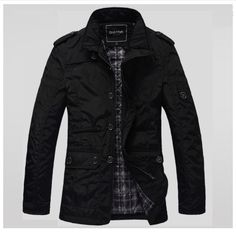2013-New-Black-Fashion-Mens-Winter-Warm-Cotton-Jacket-Trench-Outdoor-Coat-M-2XL