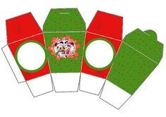 Cajitas imprimibles navideñas de Minnie y Mickey. Navidad. 13 diferentes.