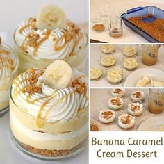 Check out how yummy this Banana Caramel Cream Dessert is!