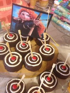 Edible targets at a Princess girl birthday party!  See more party ideas at CatchMyParty.com!