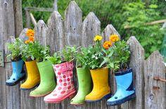 Σπίτι και κήπος διακόσμηση: DIY 35 Ιδέες για Κηπουρική με ανακυκλωμένα αντικείμενα