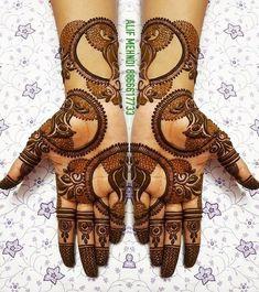 Top Simple Mehendi Designs for 2019 Brides Rajasthani Mehndi Designs, Peacock Mehndi Designs, Indian Henna Designs, Stylish Mehndi Designs, Mehndi Designs 2018, Mehndi Designs For Girls, Mehndi Design Photos, Wedding Mehndi Designs, Dulhan Mehndi Designs