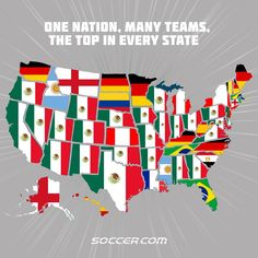 Top selling World Cup shirts by US state - Vivid Maps World Cup Shirts, World Cup Jerseys, United States Map, U.s. States, United Nations Human Rights, North America Map, Jesus Painting, Country Maps, World Geography