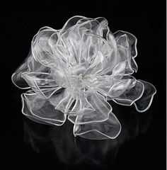 Beautiful flower made from recycled plastic bottles!