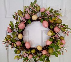 Scavenger Hunt Spring Easter Wreath With Pastel Eggs Wreaths For Door http://www.amazon.com/dp/B01AS635YI/ref=cm_sw_r_pi_dp_amMOwb03PBSM3
