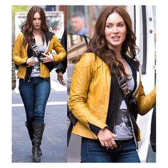 Teenage Mutant Ninja Turtles Megan Fox April O'Neil Leather Jacket