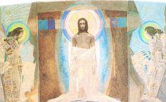 'resurrección', acuarela de Mikhail Vrubel (1856-1910, Russia)