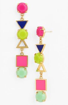 These Mixed Media Drop Earrings would add a great pop of color to any look! via @Nordstrom