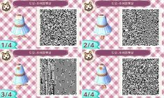 Animal Crossing New Leaf Blue summer dress qr code