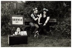Family photography tattoo booth pug