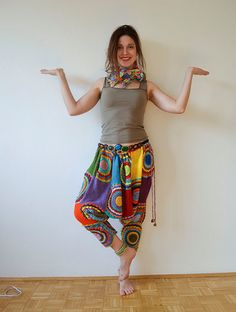 This exclusive Sub Rosa style crochet harem pants.  Crocheted with soft and silky yarn.  Fits sizes S to L .  If youd like to buy a harem pants like this, just convo me! Please keep in mind that it can take up to 4 weeks to make one!   ~~~~  Want something tweaked on this pants, or would you like it in a different size? I love custom orders, so just send me a convo and we can arrange this to be made just for you