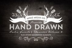 Hand Drawn Curls & Banners Vol. 2 by MakeMediaCo.