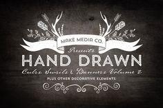 Hand Drawn Curls & Banners Vol. 2 by MakeMediaCo.