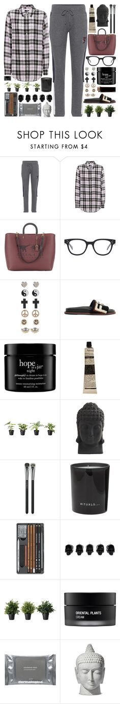 """""""I just wanna kiss the whole world and hug all the planets"""" by pure-and-valuable ❤ liked on Polyvore featuring Puma, Equipment, Coach, CÉLINE, 1&20 Blackbirds, Fendi, philosophy, Aesop, Nearly Natural and MAC Cosmetics"""