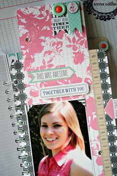 "TERESA COLLINS DESIGN TEAM: ""Snapshots"" Mini Book and Video by Cheri Piles using Family Stories"