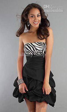 Cute zebra print prom dress Quinceanera Dresses 56c454eca