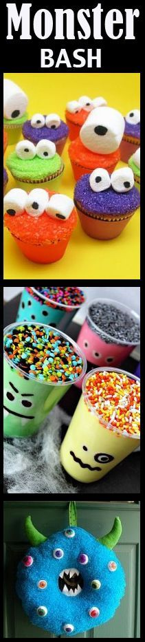 Monster Birthday Party Ideas- I LOOOVE these!