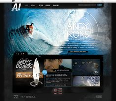 Andy Irons Tribute Site by Trevor Cleveland, via Behance