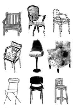 Wonderful illustrations . . . for chair design or for artwork . . ?