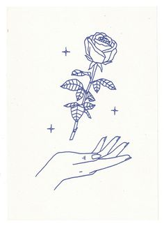 """""""Arose"""" Maddy Young, 2015 A5 Risograph print, available here"""