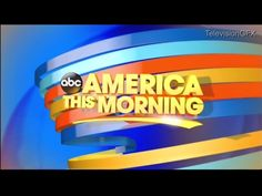 ABC News This Morning started in 1982 Morning Start, Morning News, Title Card, Classic Image, Abc News, America, Logos, Tv, Logo